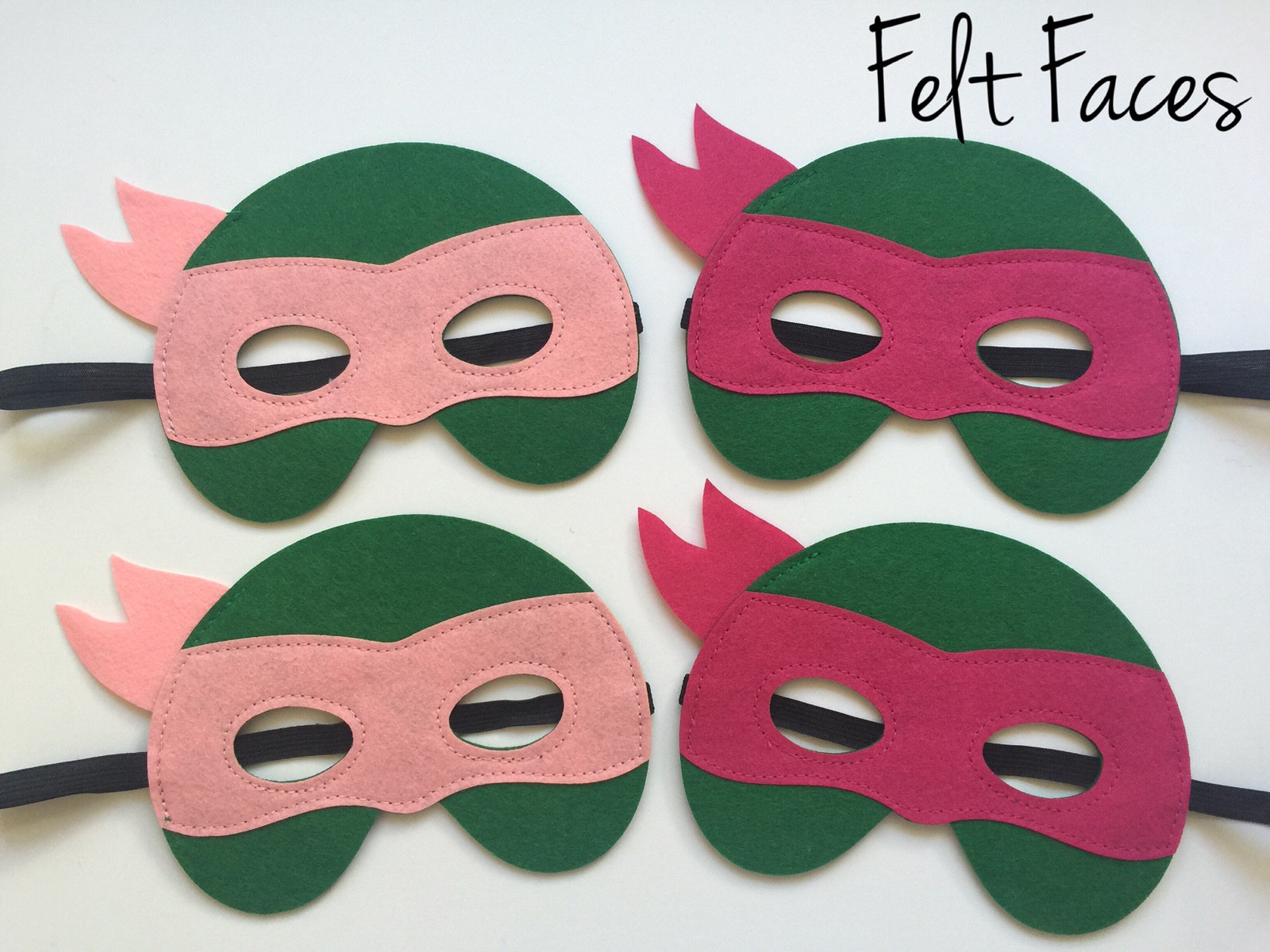 Primary image for Pink Teenage Mutant Ninja Turtle Party Masks, TMNT Party Favors