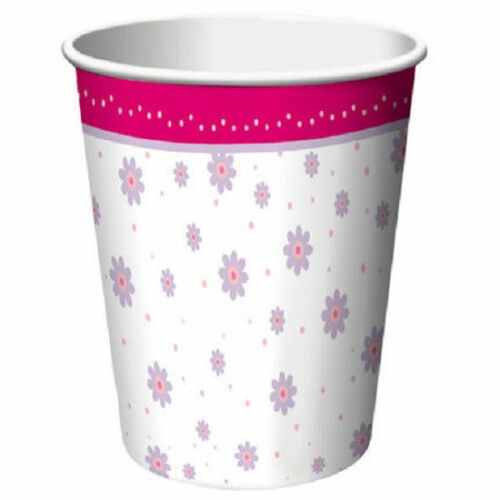 Tutu Much Fun Ballerina Ballet Dance Recital Birthday 9 oz Paper Cups 8 Ct