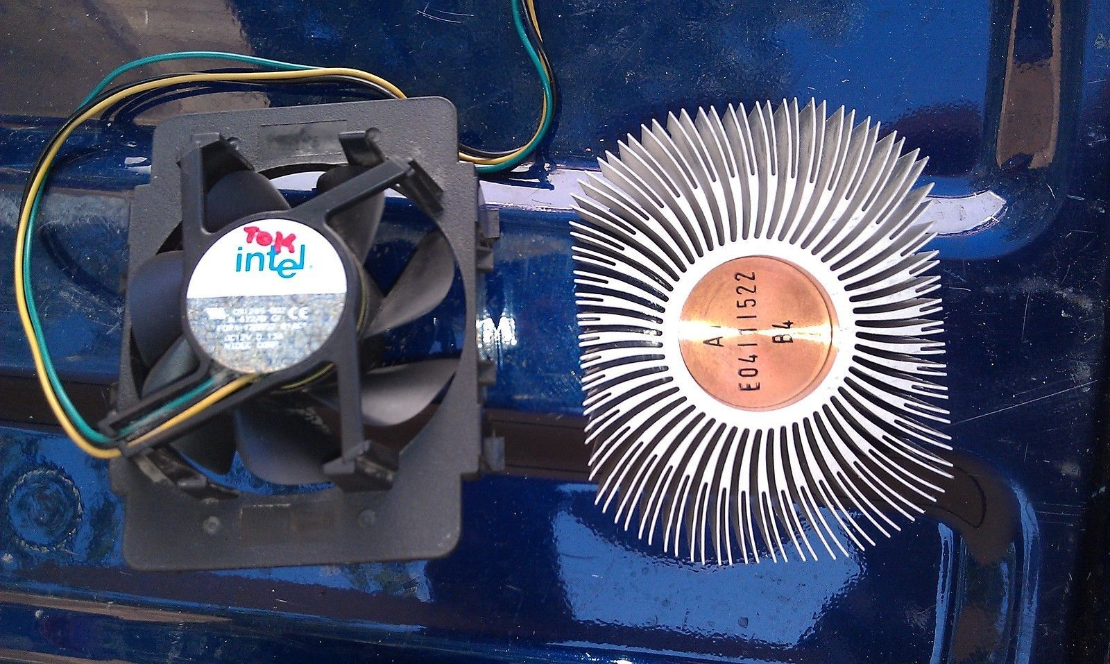 Primary image for 8E87 HEAT SINK (COPPER ALUMINUM HYBRID, 330G) WITH FAN (12VDC 130MA 70MM), VGC
