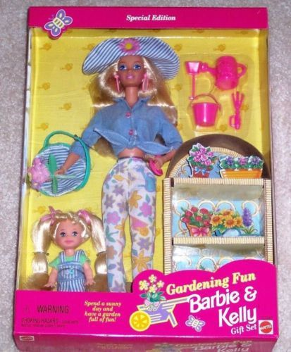 Primary image for Barbie Kelly Doll Gardening Fun Gift Set MIB Special Edition 1996 Vintage