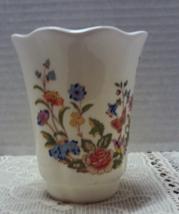 Vintage Aynsley Bone China Cottage Garden Vanity Water Tumbler Glass - $9.00