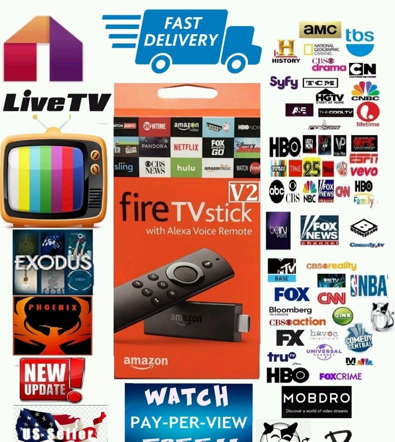 Amazon Fire Stick With Alexa Voice Jailbroke and 50 similar