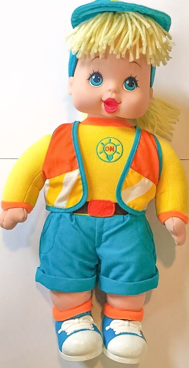 Primary image for Vtg Sarah Safety Doll 1997 OSFT Stuffed Plush Interactive Toys R Us Yellow Blue