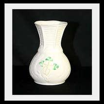Look! Belleek Porcelain Spill Shamrock Vase  - $17.86