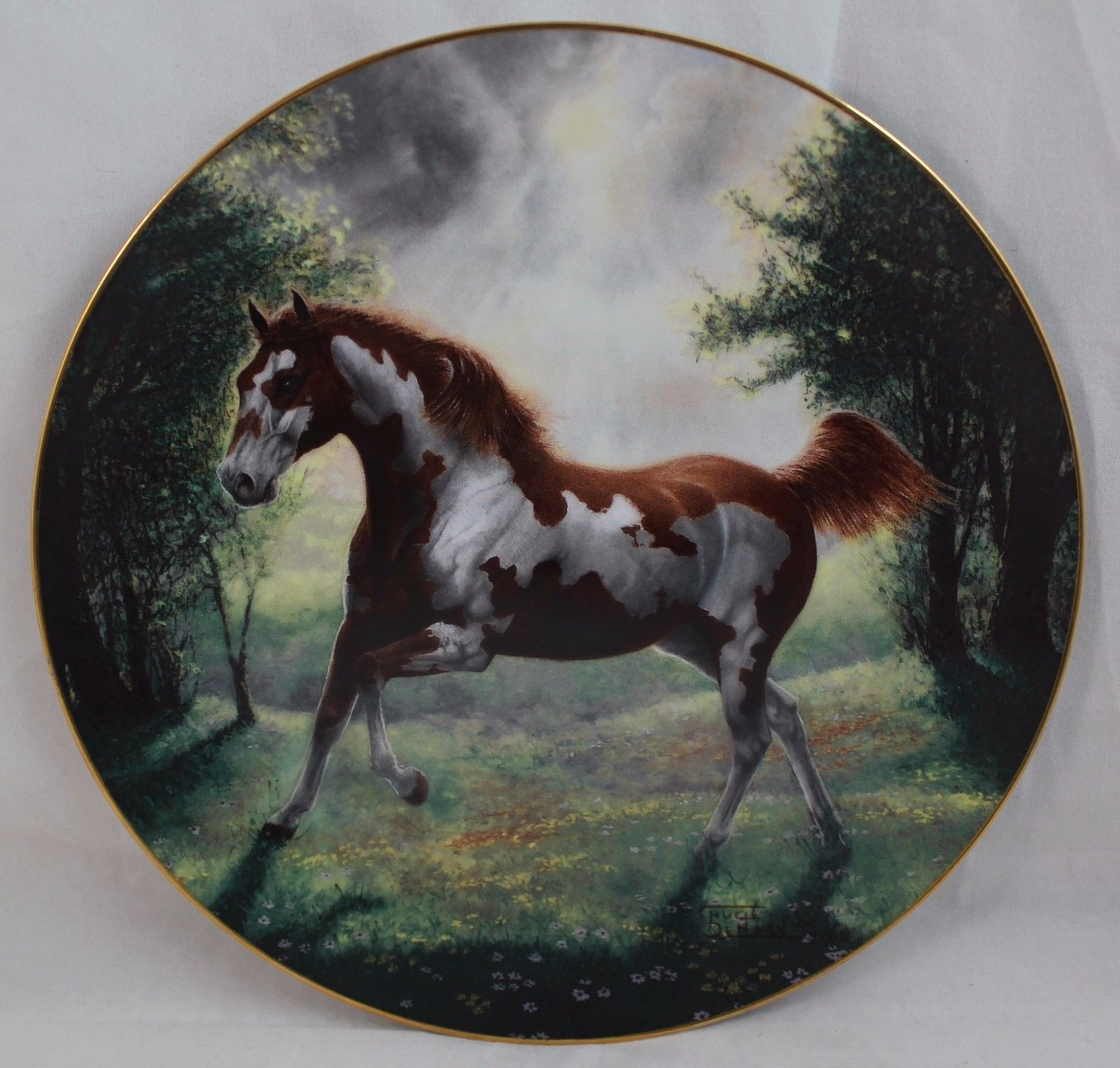 "Primary image for Unbridled Spirit ""Painted Sunrise"" Horse Collectors Plate by Chuck DeHann"