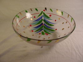 Hand Painted Holiday Bowl by SI-AN Cristallerie, Italy - $32.99