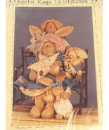 Bunny Rabbit Pattern Swoozie Primitive Folk Art Cloth Fabric Doll Sew re... - $9.46