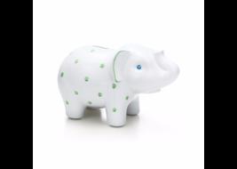 Elephant bank in earthenware, Green-. | Tiffany... - $85.00