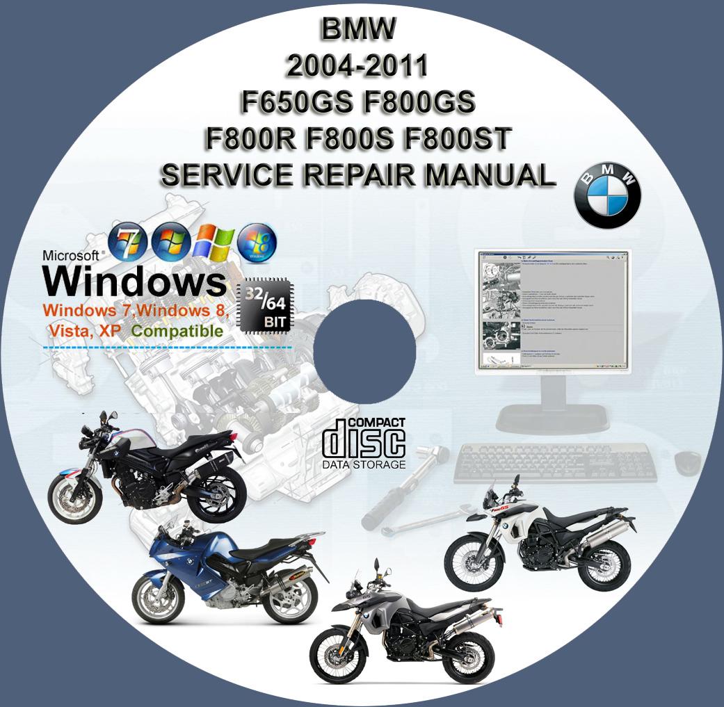 BMW F650GS F800GS F800R F800S F800ST SERVICE REPAIR MANUAL ON DVD 2004 -  2011