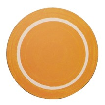 Round Casual Yellow Dining Mat Commercial Restaurant Cafe Bistro Diner - $22.28