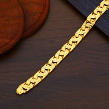 Man Men's Exclusive Gold Hollow Bracelet 22k Yellow Gold Light weight Br... - $1,602.91+