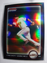 2010 Bowman Chrome #99 Freddy Sanchez Giants Refractor Baseball Card - $1.00