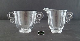Heisey Lariat Crystal Creamer and Sugar - $14.95