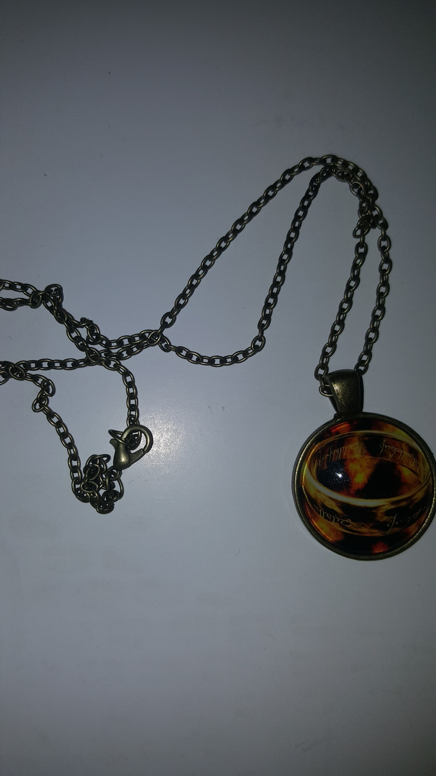 Primary image for LORD OF THE RINGS GLASS CABOCHON PENDANT NECKLACE   C/S & H AVAILABLE