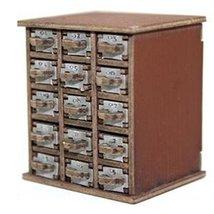 28mm Furniture: Medium Wood Safety Deposit Box 1 -15