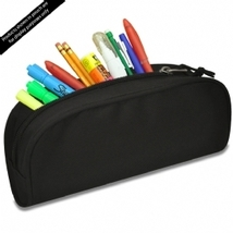 Deluxe Pencil Pouch Black New! - $4.89