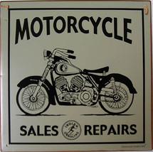 Motorcycle Sales and Repair Rustic Vintage Metal Sign - $24.95