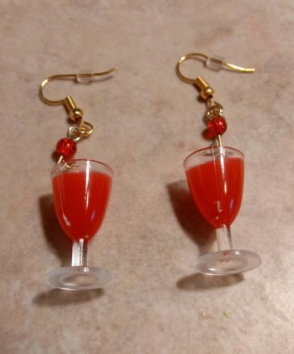 Primary image for Cute Wine Glass Charm Earrings Drink Earrings Charms Earrings Jewelry Wires