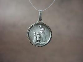 Vintage Catholic Medal OUR LADY OF La SALETTE 18mm silver finish LaSalette - $13.09