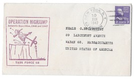 Naval Cover Operation Highjump USS Mount Olympus 1947 NY Antarctic Exped... - $4.99