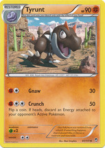 Tyrunt 61/111 Reverse Holo Uncommon Pokemon XY Furious Fists Card - $1.09