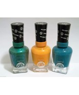 LOT OF 3 Sally Hansen Miracle Gel Nail Polish Green,Sunshine,Fish Teal B... - $13.81