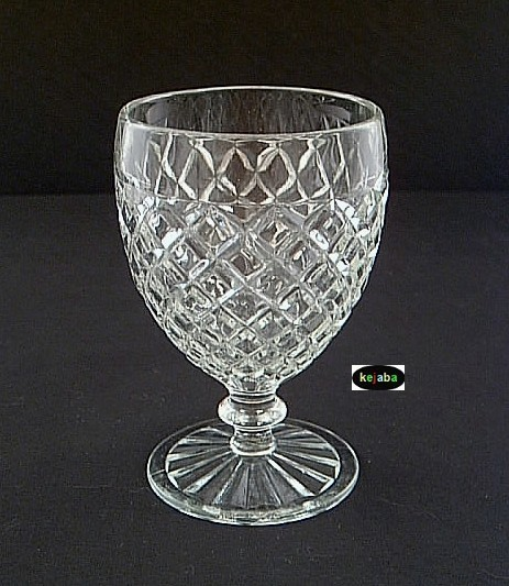 Primary image for WATERFORD WAFFLE CRYSTAL GOBLET 5 1/4 in. Hocking