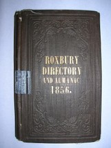 1856 City Directory ROXBURY BOSTON MA rare map ads - $500.00