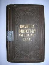 1856 City Directory ROXBURY BOSTON MA rare map ads - $500.00