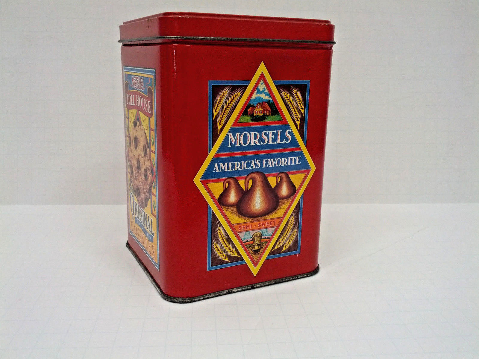 Primary image for Vintage Nestle toll house cookies metal tin limited edition container