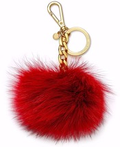 MICHAEL KORS Red Rose Rare Edition Fox PomPom F... - $29.90