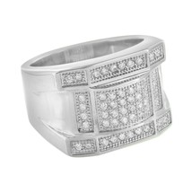 Mens Stainless Steel Ring Designer Simulated Di... - $24.99 - $29.99