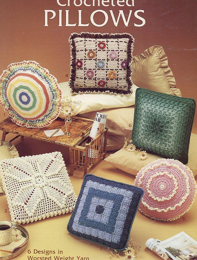 Primary image for Crocheted Pillows 6 Designs PATTERN/INSTRUCTIONS LA282