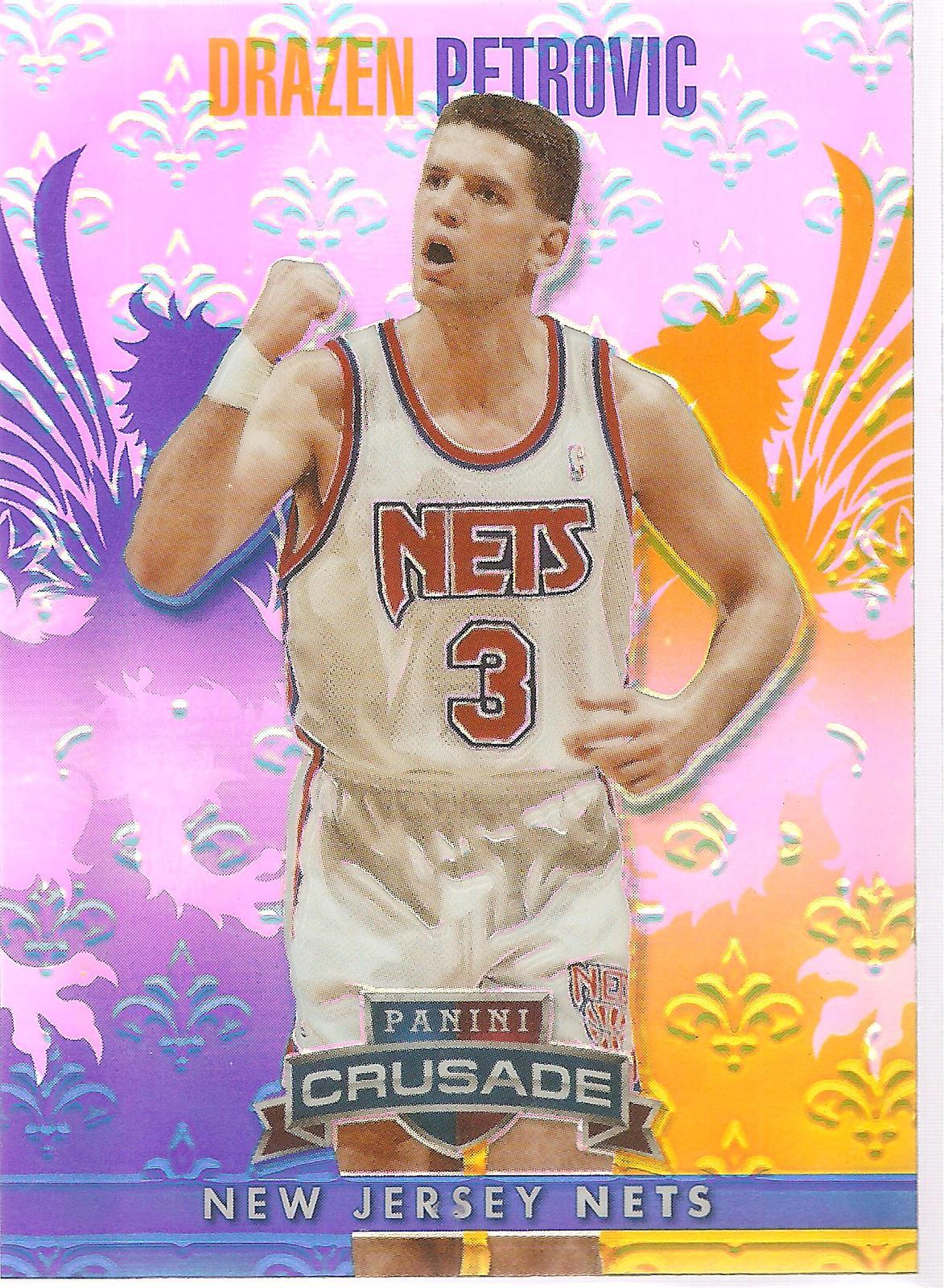Primary image for Drazen Petrovic Crusade 13-14 #54 Blue Crusade Prizm New Jersey Nets Portland
