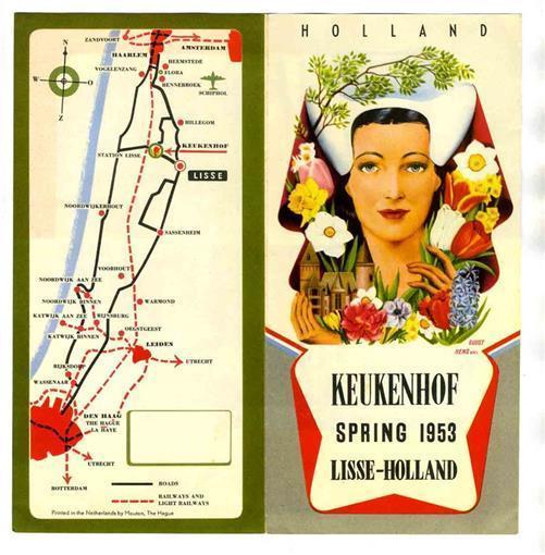 Primary image for Spring 1953 Keukenhof Lisse Holland Festival of Tulips & Flowers Brochure