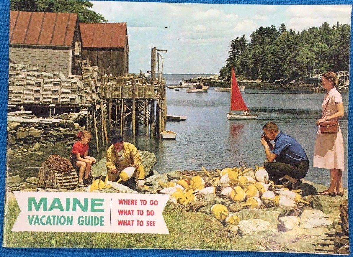Primary image for MAINE VACATION GUIDE (circa 1960's) full-color 32-page SC