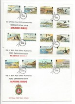 Isle of Man Marine Birds 1983 Defins 16 Values on set of 3 FDCs Sc 224 -... - $4.99