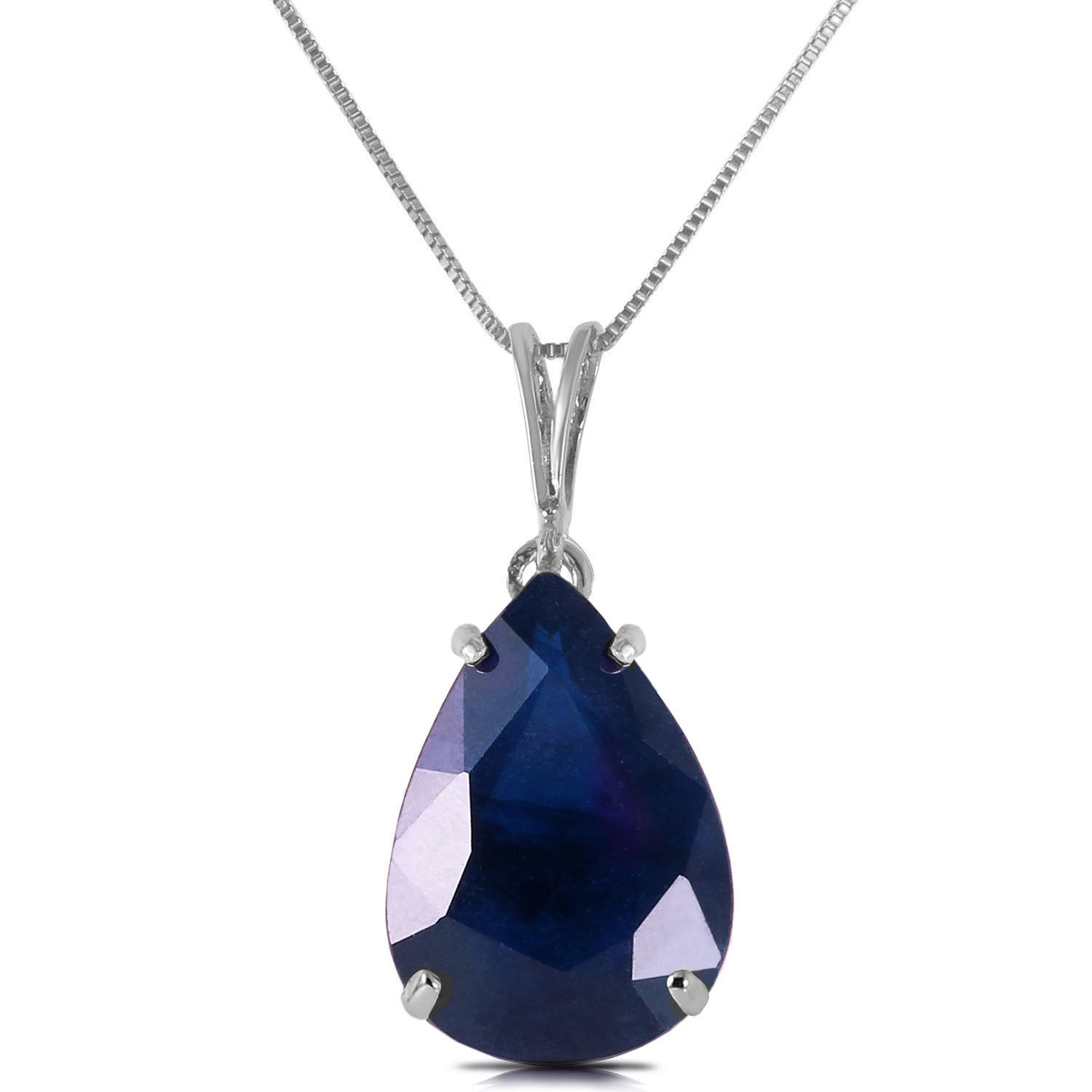 Primary image for 4.65 CTW 14K Solid White gold fine Sketched In Memory Sapphire Necklace 16-24""