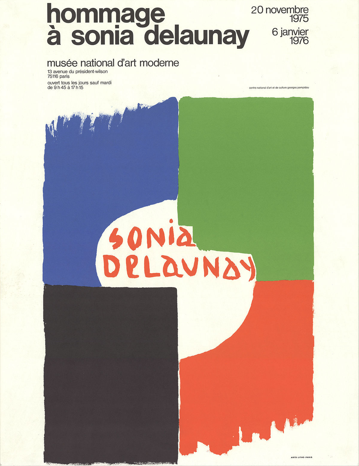 Primary image for Sonia Delaunay-Tribute to Sonia Delaunay-1975 Lithograph