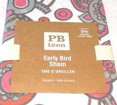 Pottery Barn Teen Early Bird Warm Pink Gray Standard Pillow Sham 26x20 NIP - $26.72