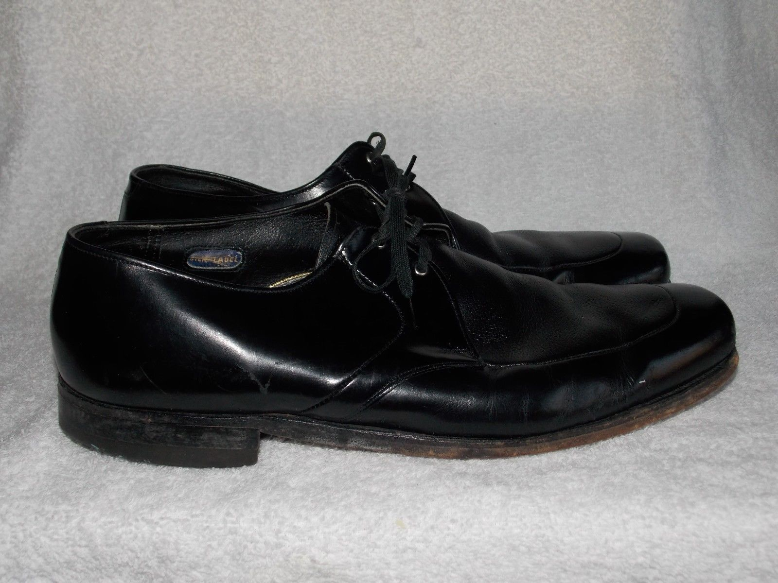 Primary image for Vintage Black Leather DERBY Oxfords Lace Up Shoes 13C Used