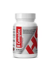 B-Complex Natural Vitamins. Growth and development (1 Bottle, 40 Tablets) - $13.06