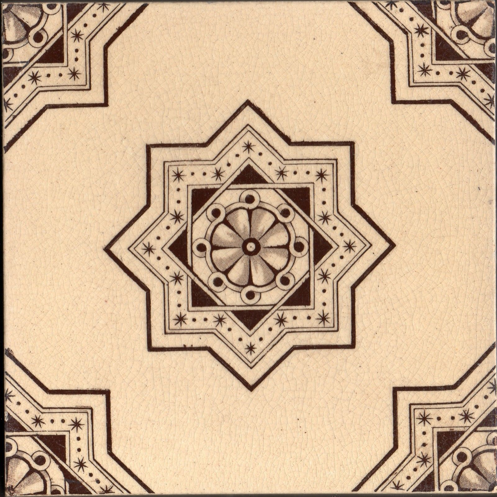 Primary image for WTH Smith & Co Original Antique Sepia transfer tile reclaimed aesthetic style