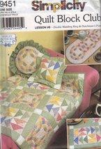 Simplicity 9451 Quilt Block Lesson #6 - Double Wedding Ring & Dutchman's... - $15.00