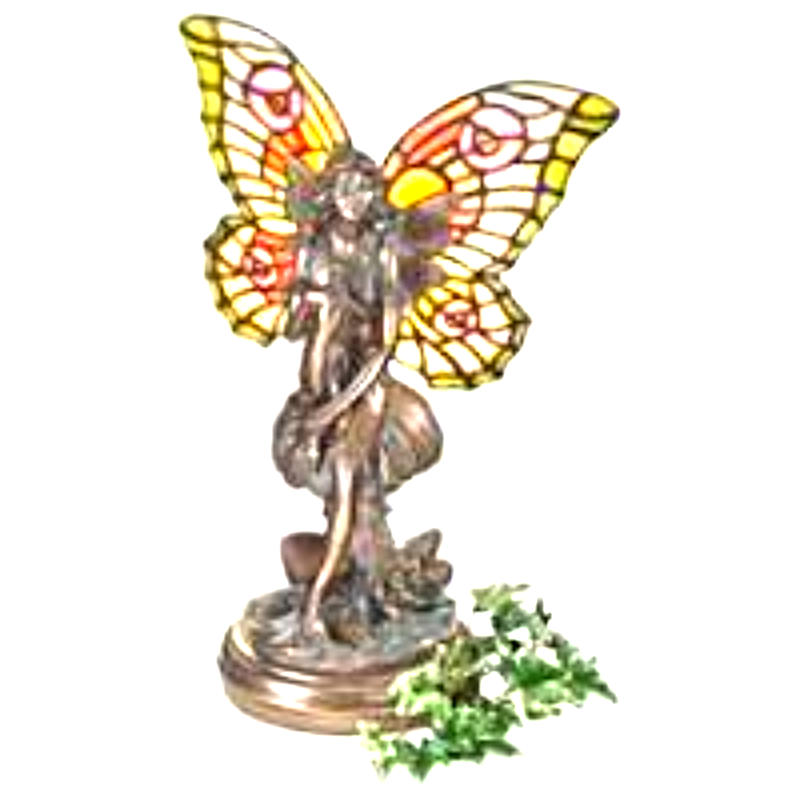 Primary image for Fairy of the Glen Tiffany-Style Stained Glass Illuminated Sculpture