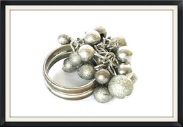 Cocktail Ring Bold Dangling Silver Balls 7 Vintage Jewelry Costume Uniqu... - $35.00