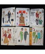 McCalls Lot 6 Used Patterns Tops Skirts Pants Jackets Mixed Sizes from 8-18 - $1.99
