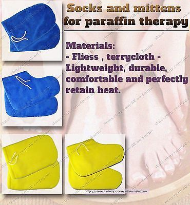 Primary image for Paraffin Wax Booties, Paraffin Mittens Socks Terry fleece for hand foot spa