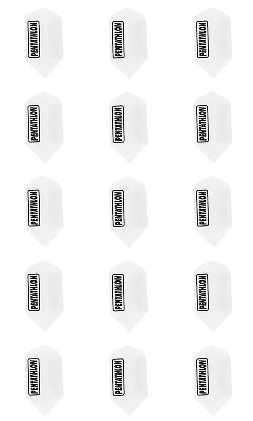 Primary image for 1,3,5 sets of 3 Pentathlon White Dimpled Dart Flights 2321 Slim Speed 100 Micron