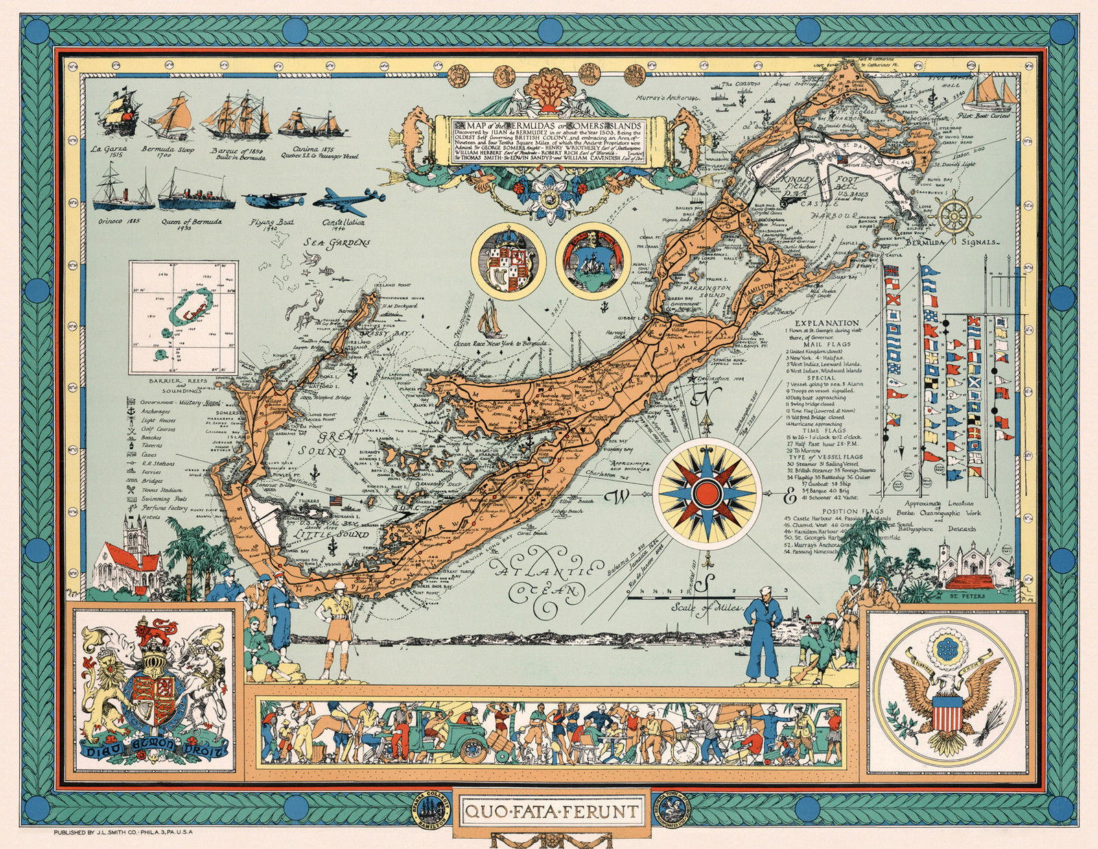 Primary image for Vintage Map of the Bermudas or Somers Islands Wall Art Poster Decor History